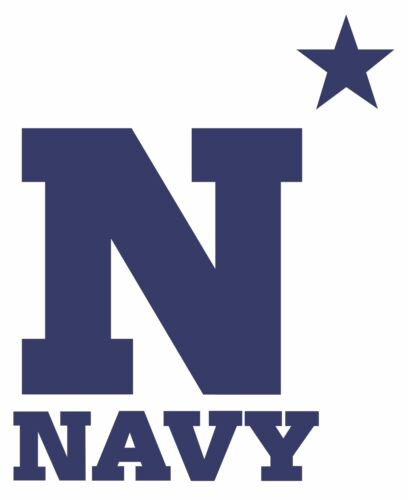 Navy Midshipmen Logo NCAA Wall Decal College Football Decor Vinyl Mural Sticker