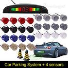 Car Backup Parking Sensor Reverse System Rear 4 Sensors Replacement 2M