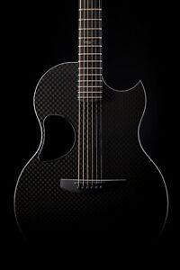 McPherson Blackout Edition Sable Carbon Fiber Guitar with Basketweave Top