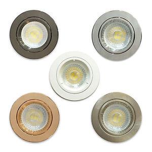 10 X Gu10 Led Ceiling Recessed Circle Fixed Downlight Spots Spotlights Lights Ebay