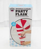 Party Flask Candy Cane Christmas Cocktails For Wine & Spirits Free Shipping