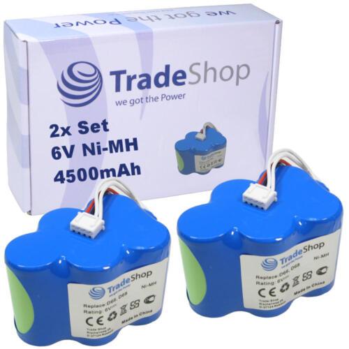 2x Trade-Shop AKKU 6V 4500mAh Ni-MH für Ecovacs Deebot D62 D62s D63 D65 D66 D68