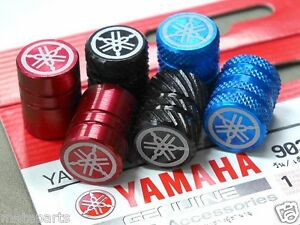YAMAHA GENUINE VALVE CAP ANODIZED DUST STEM TIRE WHEEL COVER LOGO RIMS YZF R FZ