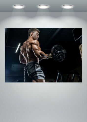 Gym Workout Muscle Fitness Motivational Large Poster Art Print