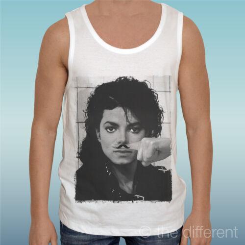 "Tank Top T-Shirt /"" Michael Jackson Finger Mustache Funny Mustache /"" Gift Idea"