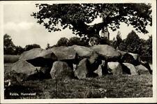 Rolde Holland vecchia cartolina 1952 andate hunnebed megalithe pietre ALBERO