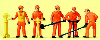 PREISER H0 FIGURES TRACK WORKERS REF NO 14035  1:87