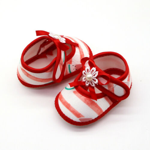 Newborn Baby Girls Watermelon Printing Prewalker Soft Sole Sandals Single Shoes