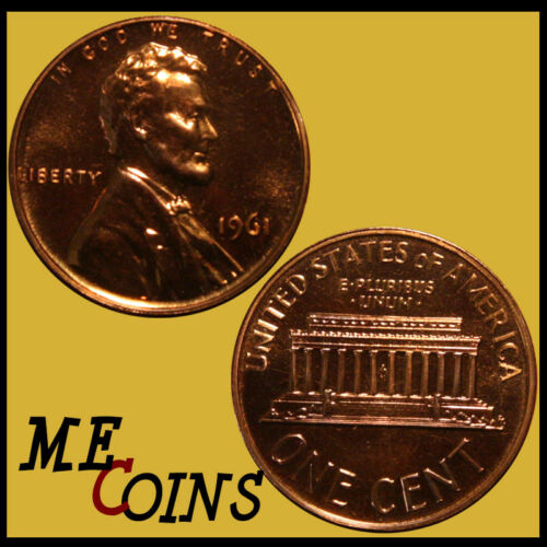 1961 Proof Lincoln Memorial Cent Penny FREE SHIPPING! GEM