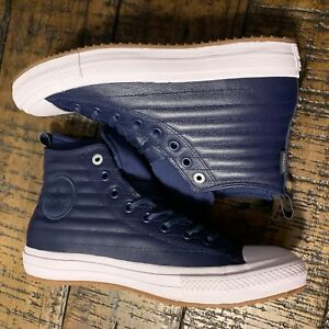 20cfde72154 Image is loading Converse-CTAS-Waterproof-Boot-Hi-Blue-Leather-157490C-