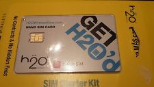 Fits H2O Wireless Nano Sim Card Starter Kit New For iPhone 5/5s/5c