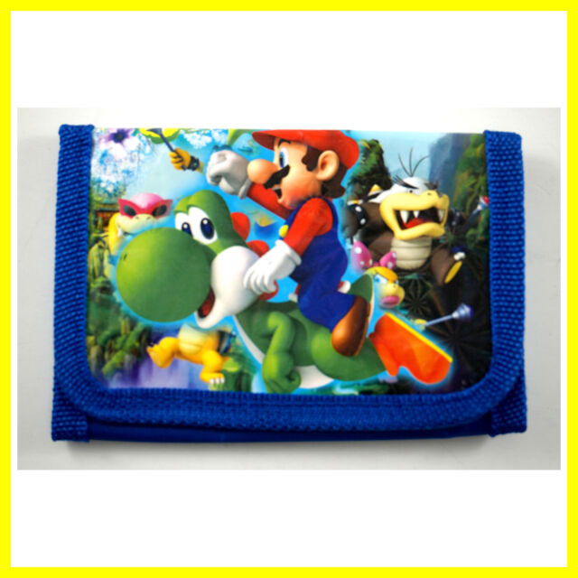 HOT Super Mario Bros. Kids Childrens Boys Girls Coins Purse Bag Wallet + Gift