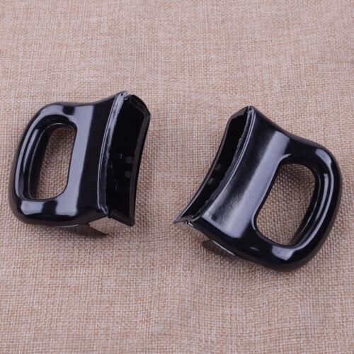 2pcs Kitchen Cooker Pot Pan Side Holder Handle Grip Handgrip Black 65mm Length