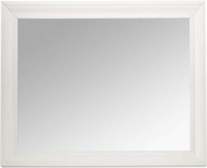 Bathroom Mirror For Wall Beveled Frame White Decor Mount Hanging