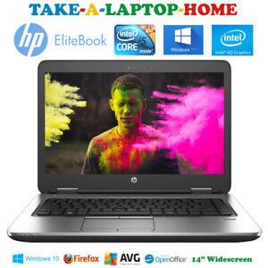 HP-EliteBook-Windows10-Laptop-Intel-Core-i5-3-0GHz-500Gb-HDD-14-034-Office-4Gb-Fast