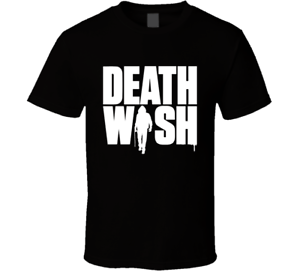 Death Wish T Shirt movie poster Bruce action crime thriller 2017 Black Tee New