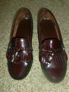 83a7da2d4b8 Dexter Made In USA Burgundy Leather Kiltie Tassel Loafers Women s ...