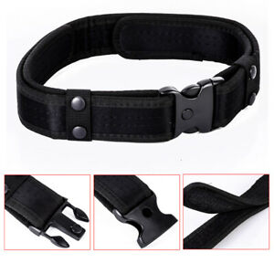 2Inch-Outdoor-Utility-Tactical-Police-Security-Combat-Gear-Nylon-Duty-Belt-Black