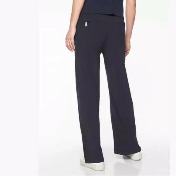 Details about  /Athleta Luxe Gramercy Track Trouser Black// Opal Grey SIZE 8       #406756 N1222
