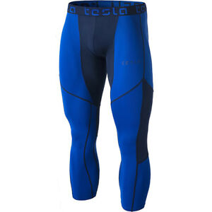 Men's Clothing Blue/navy Ingenious Tesla Muc78 Cool Dry Mesh 3/4-length Sports Compression Tights