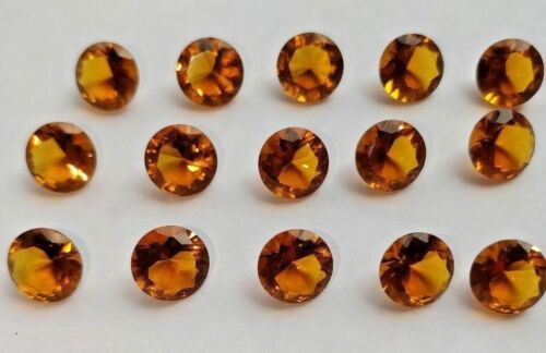 Spanish Whisky Citrine Quartz Faceted Round 9 MM Loose Gemstone Wholesale Offer