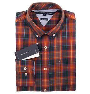 2dce047a Tommy Hilfiger Men Long Sleeve Custom Fit Button Down Plaid Shirt ...