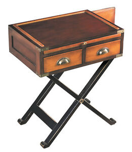 Image Is Loading War Chest End Table Honey Wooden Campaign Style