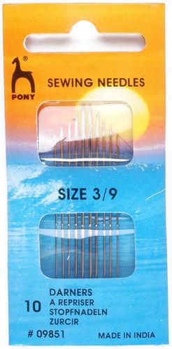 Pony Gold Eye Darners needles Size 3-9
