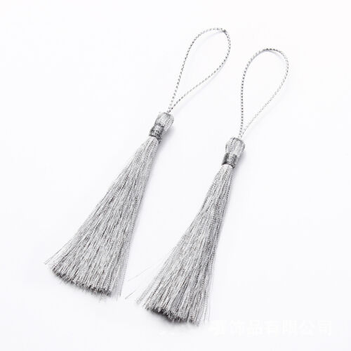 30x Tassels Silk Decoration Craft DIY for Bookmark Key Earing Clothing Party