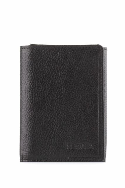 New Sequel Leather Prime Slim Trifold Wallet Mens Trifold Black by-Strandbags