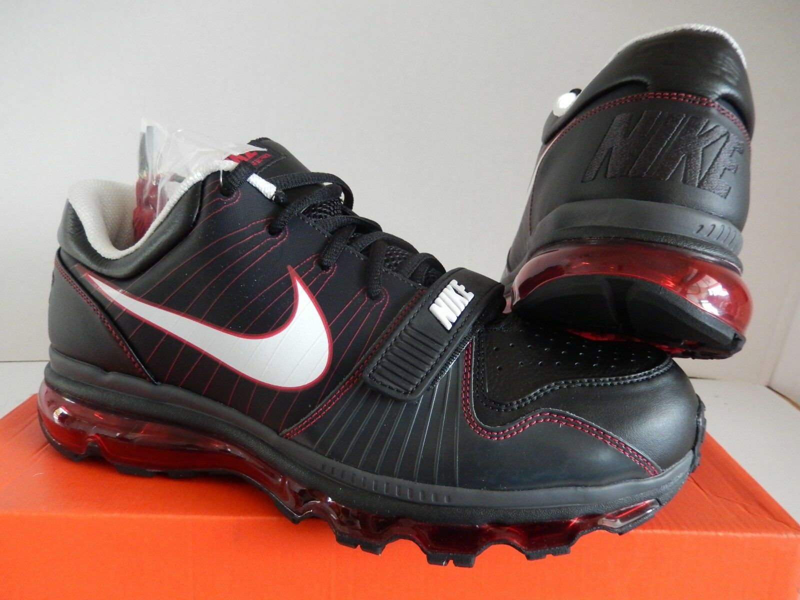 feaa08472ec2 Nike Air Max TR 1 Low 2009 2013 2017 360 Black-var Red Sz 12 409717 ...