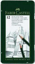 FABER Castell 9000 MATITE DESIGN SET 12 Grade TIN (5b - 5H)