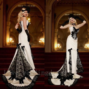 With and Dresses Sleeves Wedding Black Whivictorian