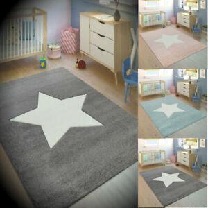 Dettagli su Per Bambini Tappeto Tappeto Moderno Cameretta Ragazzi Ragazze  Camera Da Letto Tappetino Star Design Mats- mostra il titolo originale