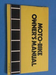 YAMAHA-MOTO-BIKE-1974-OWNER-039-S-MANUAL-OWNERS-Bicycle-NEW-1162J-60-00-Moto-Bike