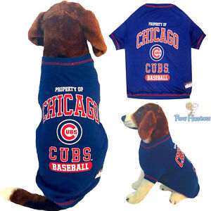 more photos 5e98e 2294c Details about MLB Pet Fan Gear CHICAGO CUBS Dog Shirt Dog Tee T-Shirt for  Dogs XS-XL BIG SIZE
