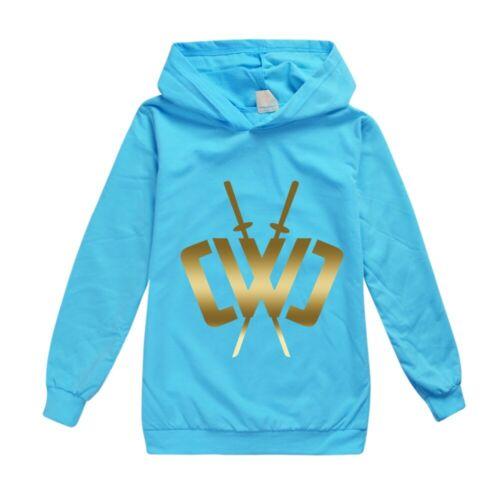 Gold Hoodies Sweatshirt Children Long Sleeve Jumper Hooded Tops