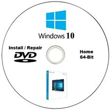 Windows 10 Home 64-Bit Installation / Repair DVD Disc High Quality CD
