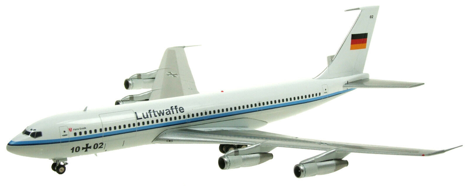 Inflight 200 IF707GAF001 1 200 German Air Force Boeing 707-300 1002 avec support