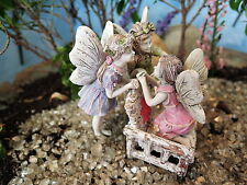 Fairy Garden Heather, Daisy & Rosebud Fairies Miniature Dollhouse Gnome Hobbit