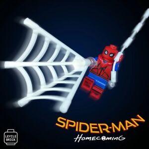 Lyl Brick Custom Spider Man Homemade Suit Lego Minifigure Webbing
