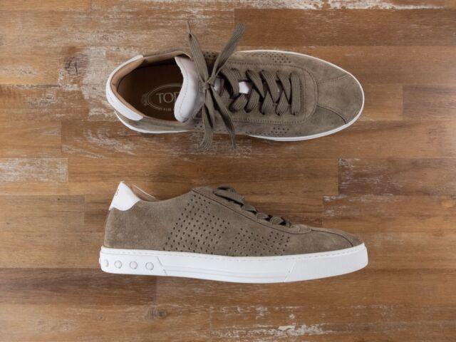 TOD'S low top beige suede sneakers