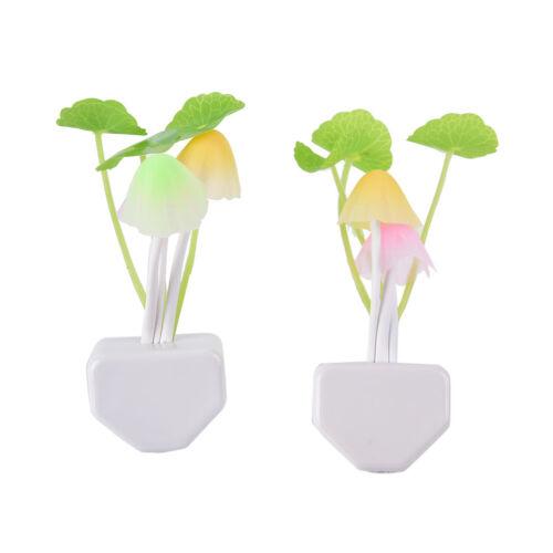 Sensor Night Light Mushroom LED Lamp EU//US Plug Romantic Colorful Home Decor FF