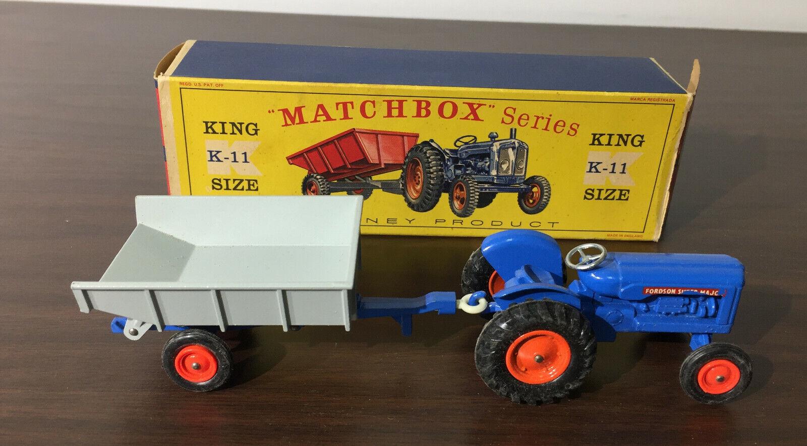 MATCHBOX KING K-11 Größe FORDSON TRACTOR AND FARM TRAILER