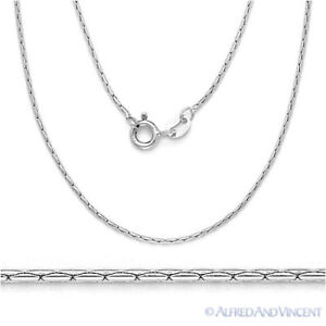 Solid-925-Sterling-Silver-Cardano-Boston-Link-Chain-Men-039-s-Necklace-Italian-Italy