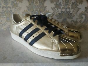 superstar 80s metal toe gold