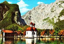 St. Bartholomä am Königssee mit Watzmann Ostwand , ungel. Ansichtskarte
