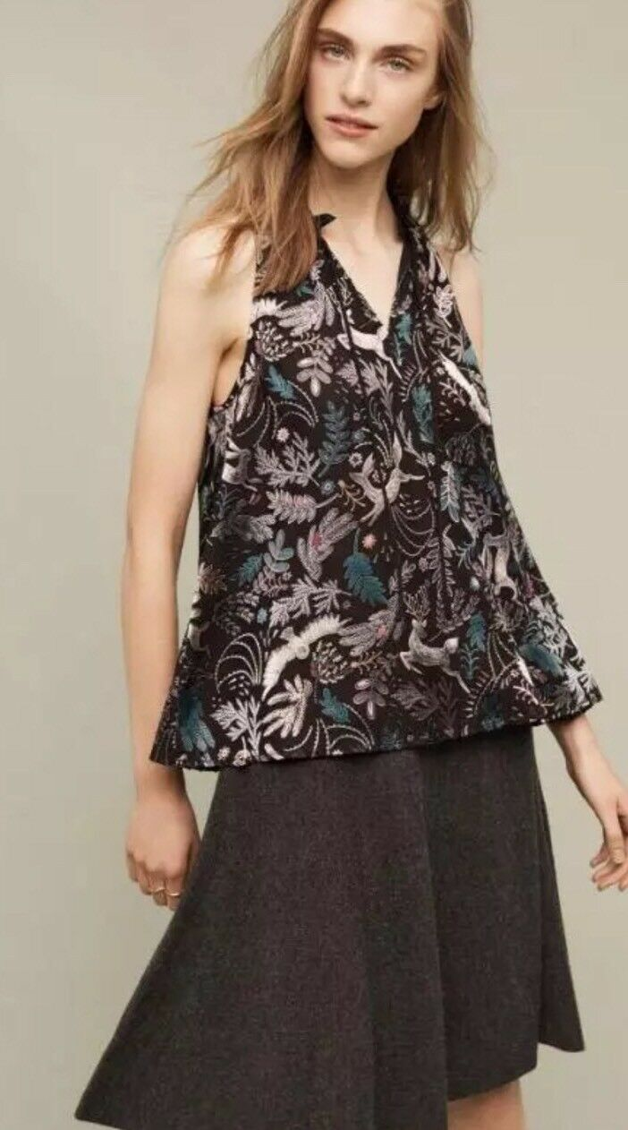 Nwt Anthropologie Floreat Fabled Halter Blouse S Rare