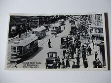USA679 - NEW YORK RAILWAYS - TROLLEY CAR Hobble Skirt Cars on Broadway PHOTO