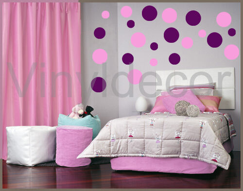 vinyl wall art stickers circle 216 POLKA DOTS decor  sv